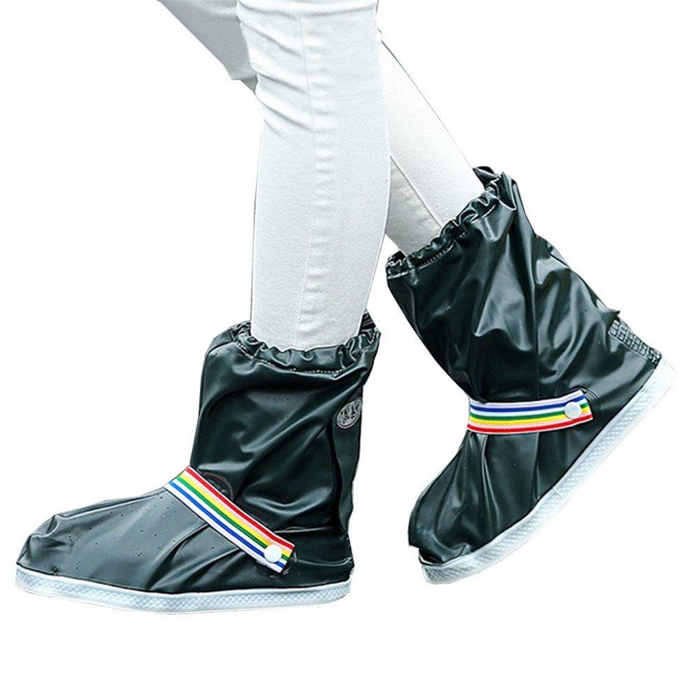 Fashion Waterproof Shoe Covers Men Women Rain Cover Outdoor Shoes Accessories Darkgreen L
