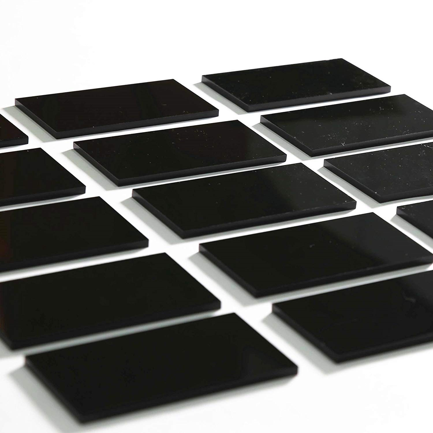 UNIQOOO 80 Count Black Acrylic Escort Place Cards - Extra Thick Rectangle  Shape - Perfect for Wedding, Birthday Parties, Table Numbers, Guest Name,  ...