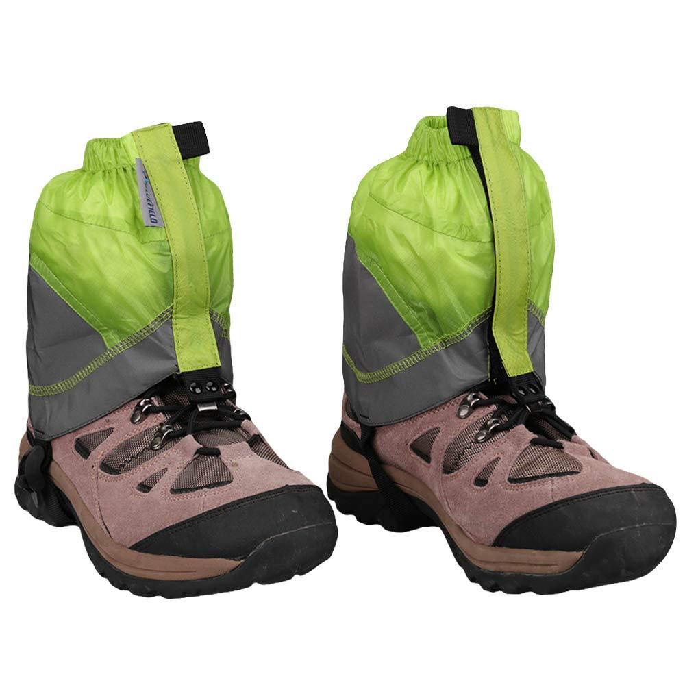 MAGARROW Gaiters Lightweight Waterproof Hiking Ankle Gaiters (Green & Gray)