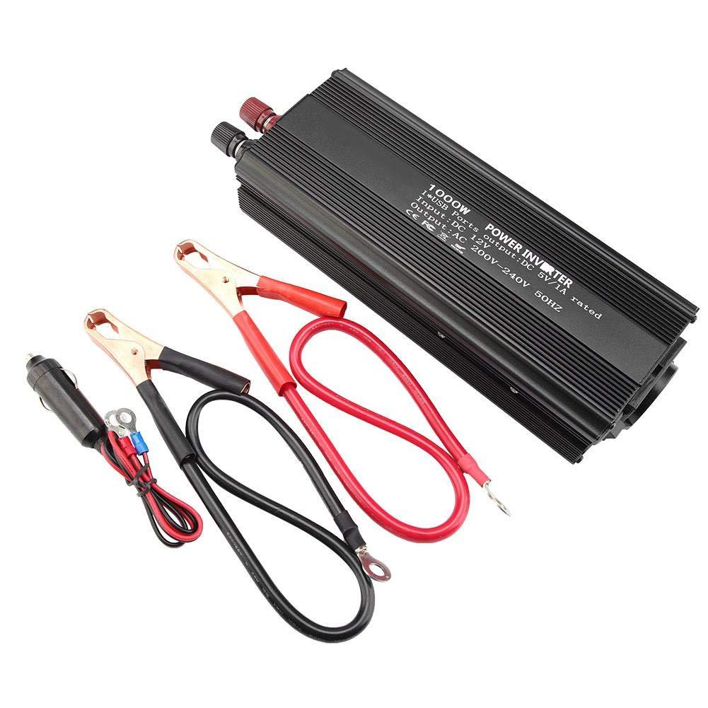 YOSOOO Pure Sinus Wechselrichter 12V Konverter 220V 1000W Wechselrichter mit Solarpanel 1PCC