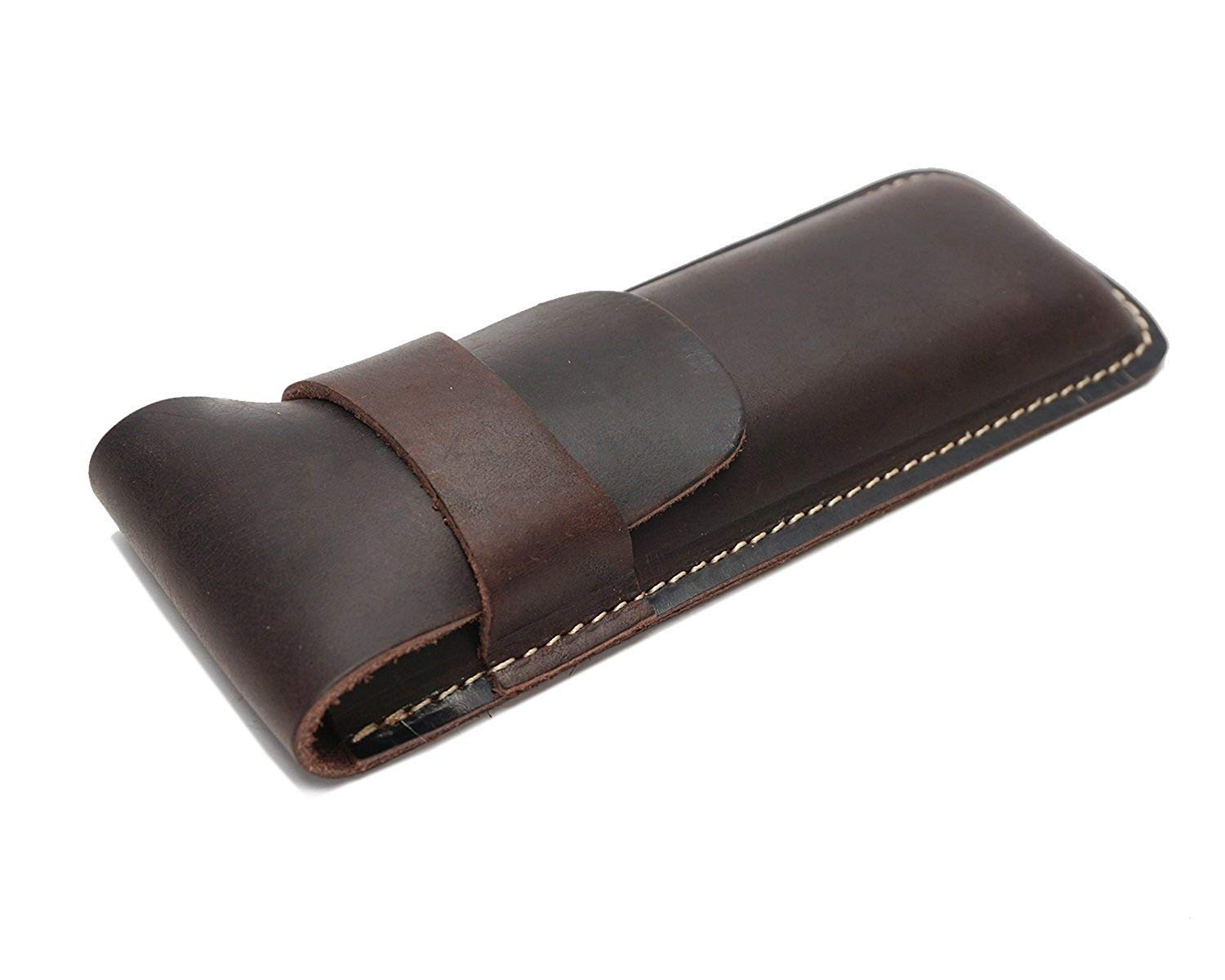 BGRFEB Retro Leather Bag Leather Cowhide Vertical Bag Buckle Unisex Color : Brown, Size : Small