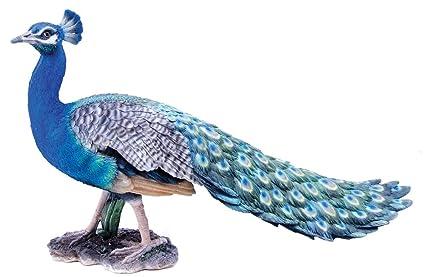 Hi Line Gift Ltd Peacock Garden Statue