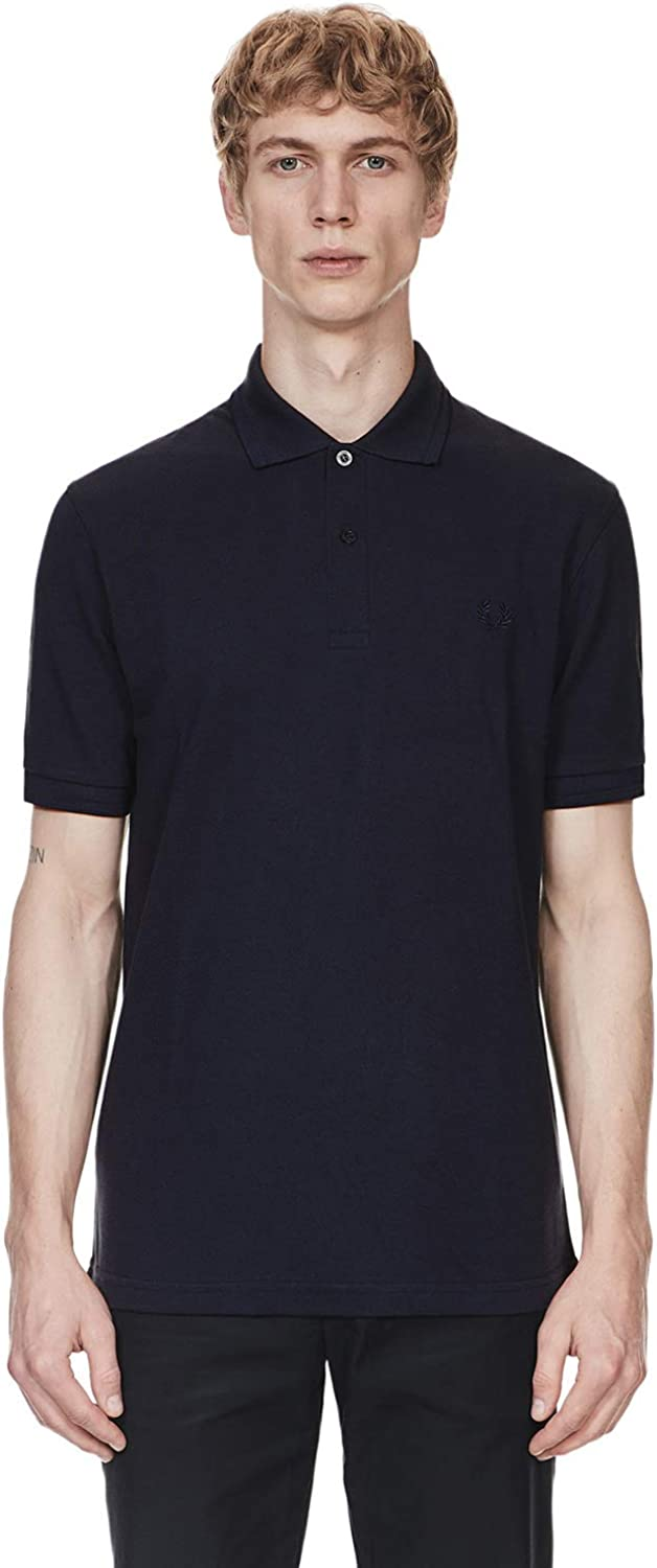 Fred Perry Men's Made in England Original Twin Tipped Polo Shirt - Black/Champagne Navy Blue/Navy/Navy
