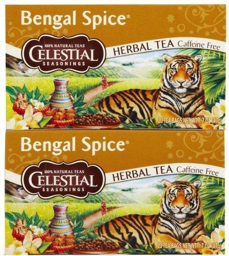 Celestial Seasonings Bengal Spice Herb Tea Bags, 20 ct, 2 (Bengal Spice Herb Tea)
