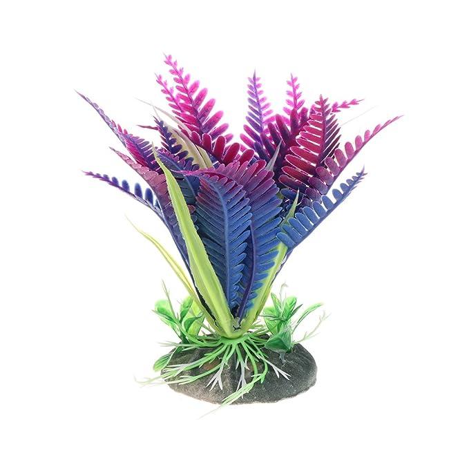 KunmniZ - Plantas acuáticas para Acuario, diseño de Flores de Navidad, Color Morado: Amazon.es: Productos para mascotas