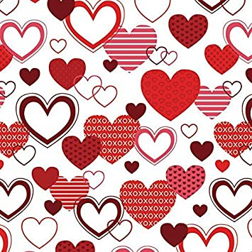 xoxo valentines day wrapping paper 6ft roll by best wrapping paper - Valentines Day Wrapping Paper