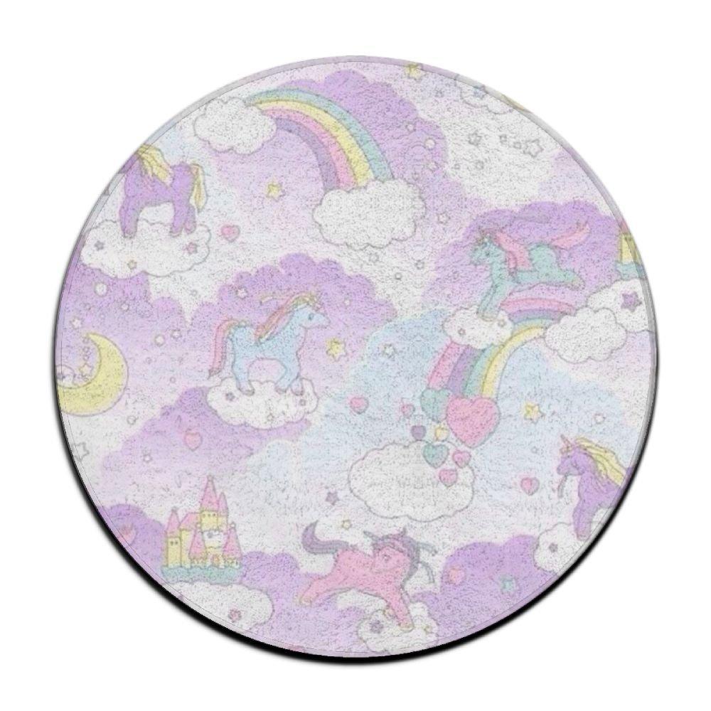 Scorpio Unicorn Animal Circular Doormat Washable Easily Fold Thickness 2-inch(approx. 4.5 Cm) Coral Velvet Yoga Mat