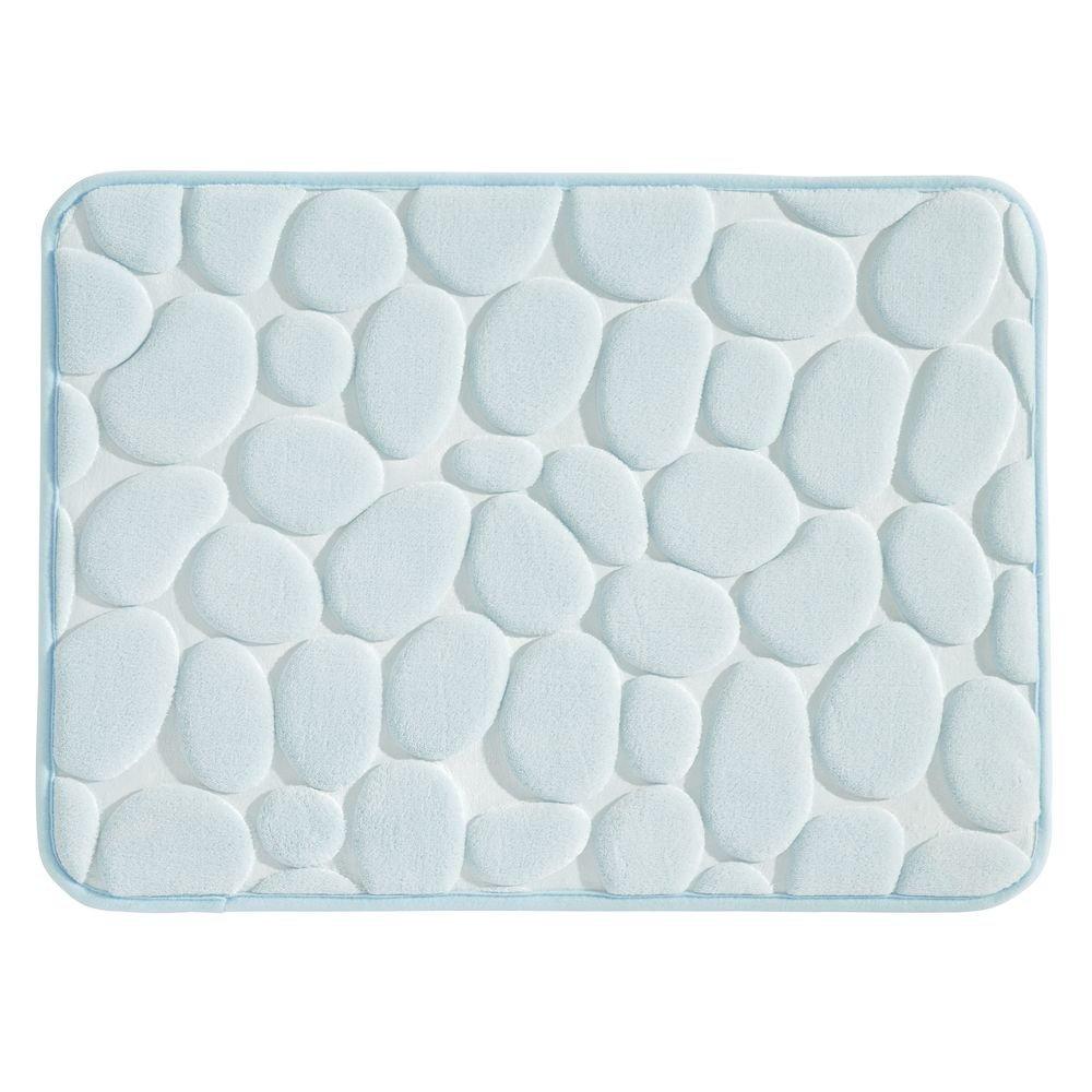 InterDesign Basic Tappeto antiscivolo doccia, Tappetino bagno in plastica ideale per doccia e vasca da bagno, celeste 23353