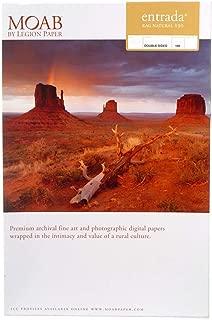 """product image for Moab Entrada Rag Fine Art, 2-Side Natural Matte Inkjet Paper, 15.5 mil., 190gsm, 17x22"""", 25 Sheets"""