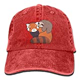 Have You Shop Little Sloth and Red Panda Adult Perfect Cowboy Cap Red