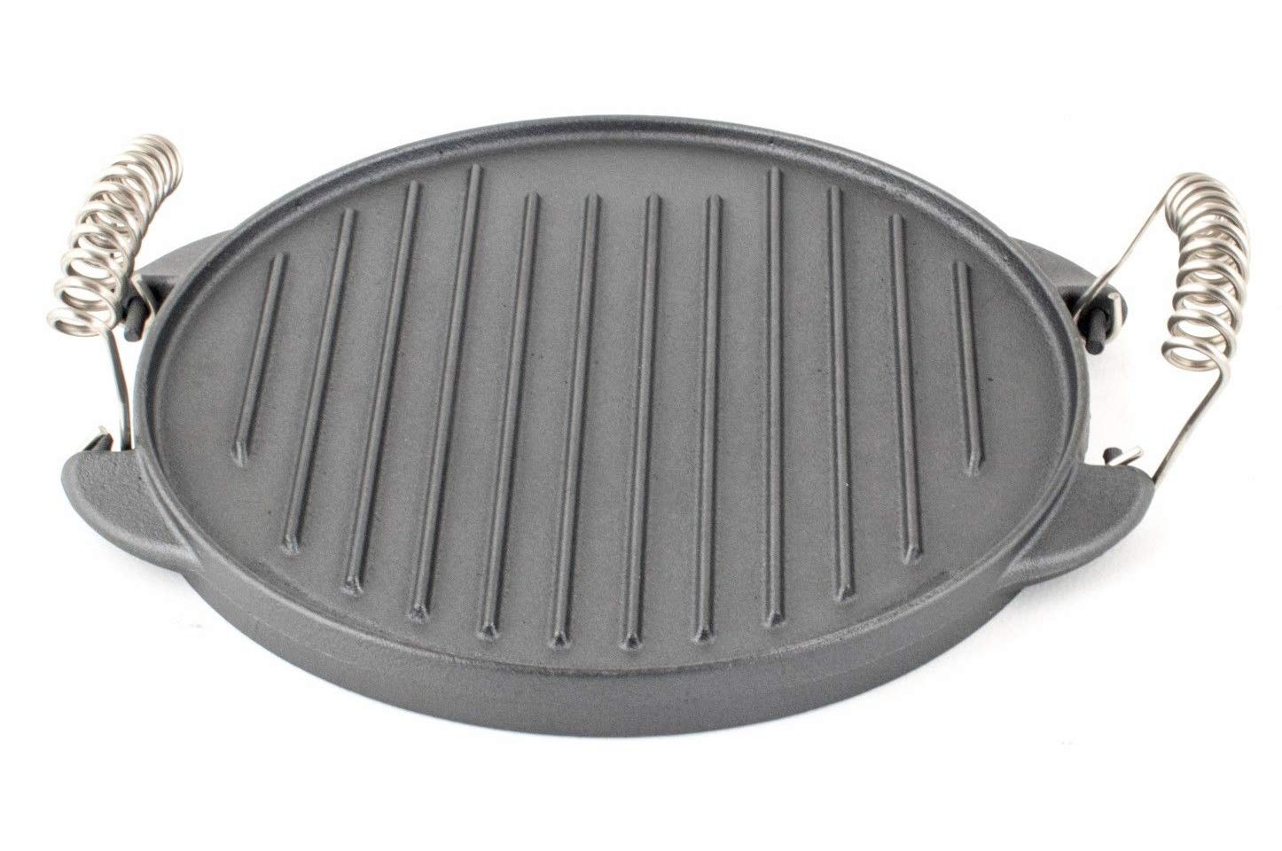 Plaque de grill Fonte antiadh/ésif Portable r/éversible Po/êle