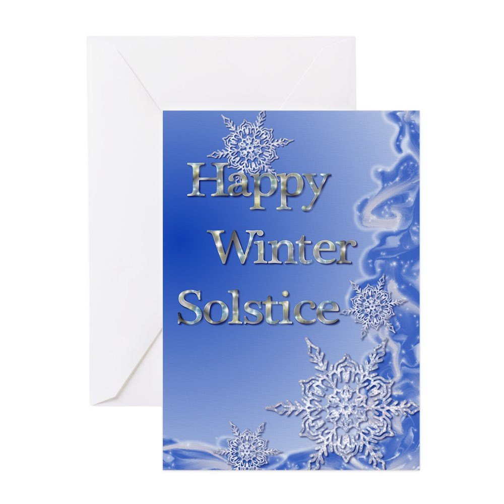 Amazon Cafepress Happy Winter Solstice Greeting Card Note
