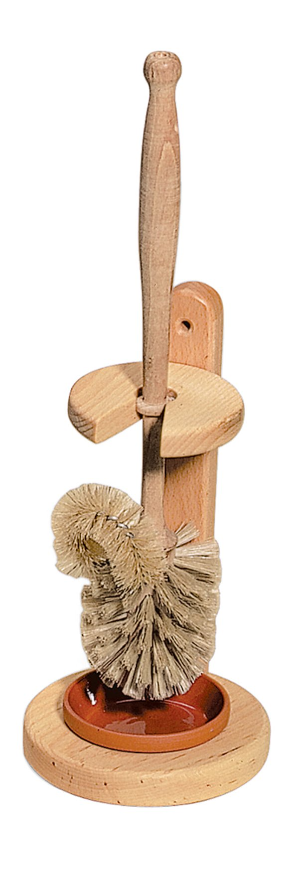 REDECKER Natural Pig Bristle Toilet-Brush with Untreated Beechwood Handle, 14-1/2-Inches