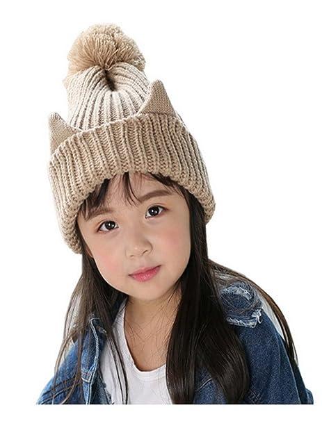 Evedaily Cappello invernale per neonato Cappello caldo lavorato a maglia  dell orecchio del gatto per bc3f3cc3fe6d
