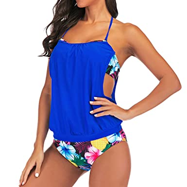 12b7ca38ae Women Sport Tankini Sets,Jchen Ladies Tankini Tops with Bottoms Swimsuits  Sporty Double Up Bathing