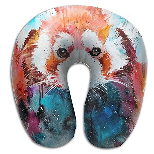 Beto Home Watercolor Animal Red Panda U Shaped Travel Neck Pillow Portable Head Neck Rest Memory Foam Pillows for Office Napping, Airplanes, Car Decor for $<!--$29.75-->