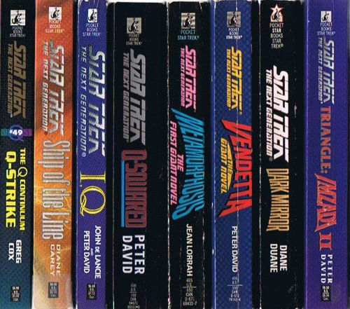 Star Trek: The Next Generation, 16-Volume Collection: The Q Continuum Q-Strike; Ship of the Line; I.Q.; Q-Squared; Metamorphosis; Vendetta; Dark Mirror; Imazadi II; Encounter at Farpoint; Ghost Ship; Strike Zone; The Eyes of the Beholders; and More (Star Trek The Next Generation Encounter At Farpoint)