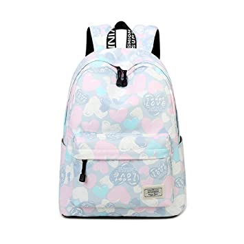 1e0bca6c09 Image Unavailable. Image not available for. Color  Casual Large Capacity  Travel Women Waterproof Backpack Cute ...