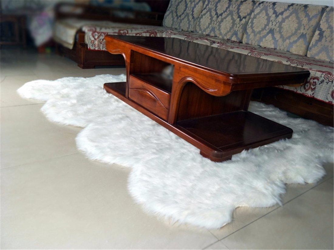 Meng Ge Faux Silky Deluxe Sheepskin Area Shag Rug Children Play Carpet for Living Bedroom