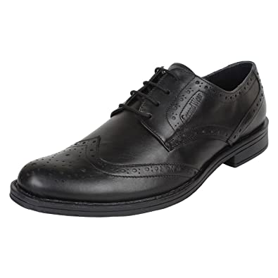 092abc6ed7a SeeandWear Brogue Shoes for Men Leather Black Lace Up Formal Shoes.  Buy  Online at Low Prices in India - Amazon.in