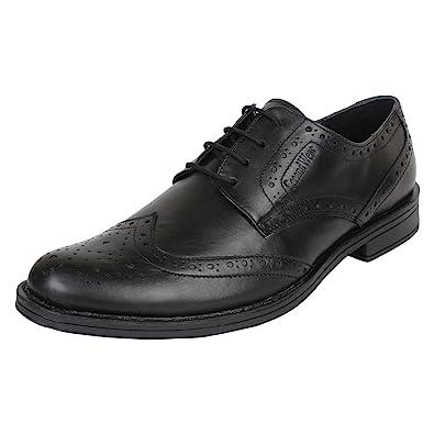 28e0d554f3d2c5 SeeandWear Brogue Shoes for Men Leather Black Lace Up Formal Shoes ...