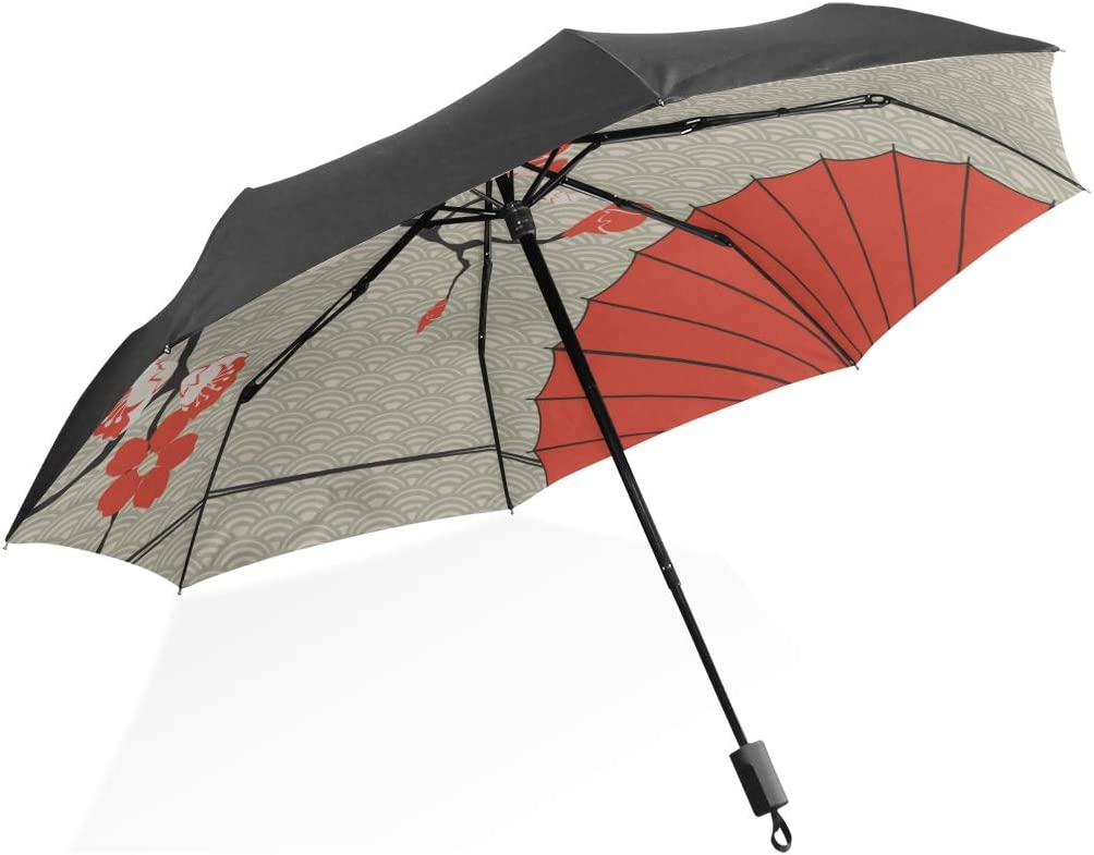Boys Inverted Umbrella Japanese Umbrella Japanese Cherry Sakura Portable Compact Folding Umbrella Anti Uv Protection Windproof Outdoor Travel Women Umbrella Outside