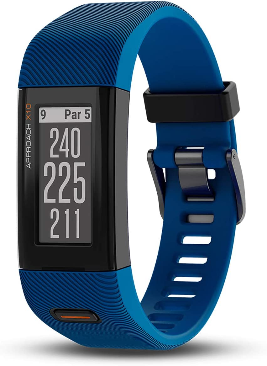 Garmin Approach X10, Lightweight GPS Golf Band, Blue