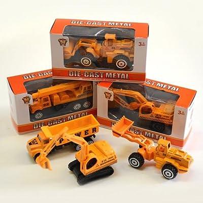 Die Cast Construction Vehicles - (Set of 4): Toys & Games