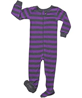 db60ac7a48 Leveret Striped Baby Girls Footed Pajamas Sleeper 100% Cotton Kids    Toddler Pjs (0