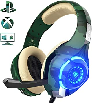 Auriculares Gaming para PS4 Xbox One Nintendo Switch, Beexcellent ...