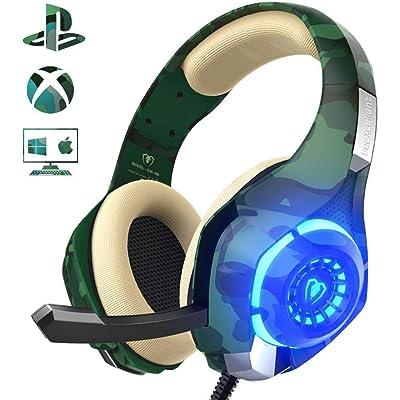 Auriculares Gaming para PS4 Xbox One Nintendo Switch, Beexcellent GM-100 Cascos Gaming con Sonido Envolvente y Reducción de Ruido. La Disfruta de Lujo del Sonido Nítido