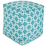 Majestic Home Goods Links Indoor / Outdoor Bean Bag Ottoman Pouf Cube, 17