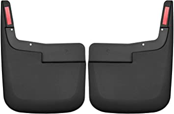 Husky Mud Guards BLACK Front /& Rear Set 2015-2018 F-150 w// NO FLARES No Drill