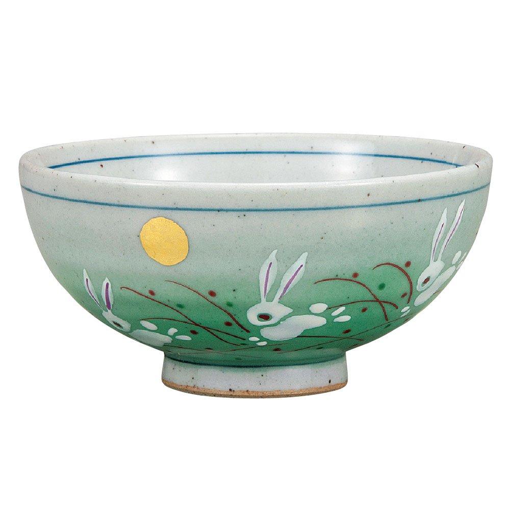九谷焼 ご飯茶碗 うさぎ