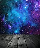 AOFOTO 10x12ft Dreamy Starry Sky With Wooden Board Photography Background Universe Galaxy Cosmic Nebula Backdrop Night Scenic Photo Studio Props Adult Girl Child Boy Artistic Portrait Vinyl Wallpaper