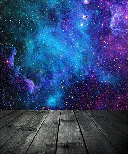 aofoto 10x12ft dreamy starry sky with wooden board photography