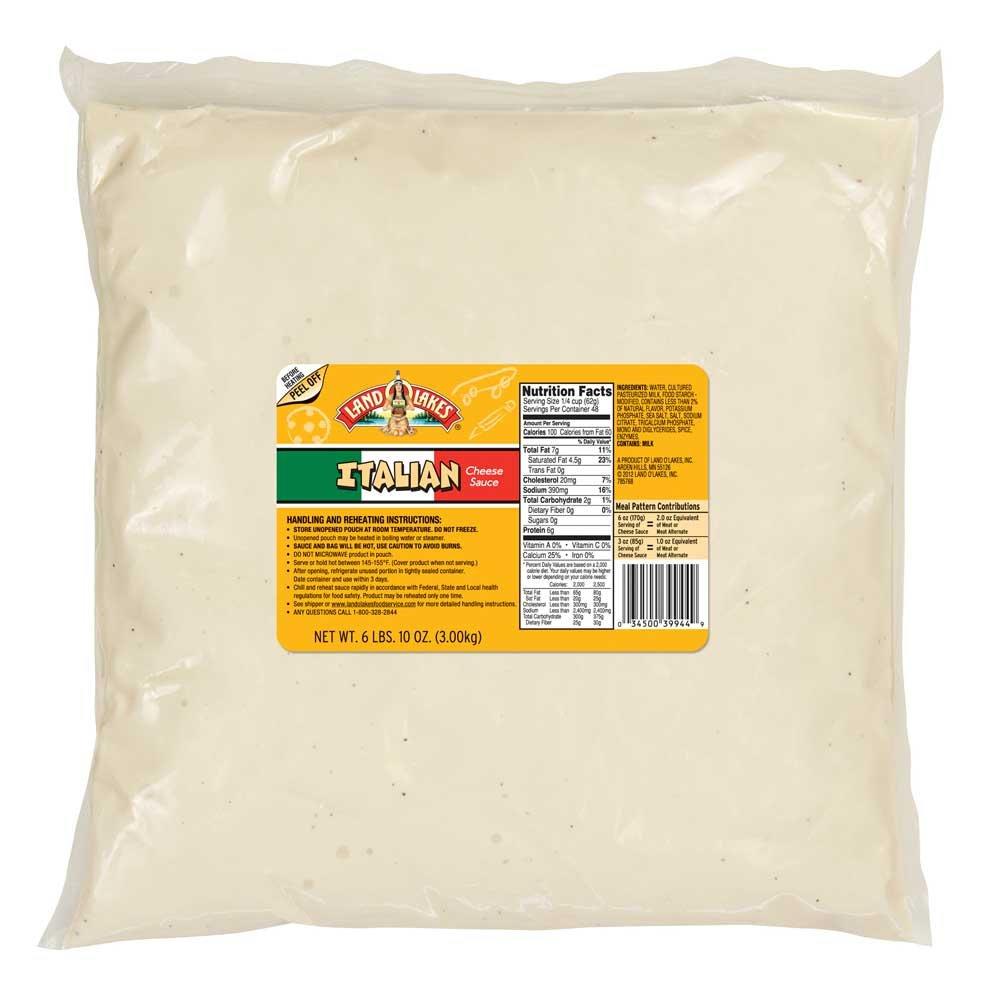 Land O Lakes Italian Cheese Sauce, 106 Ounce Pouch -- 6 per case.