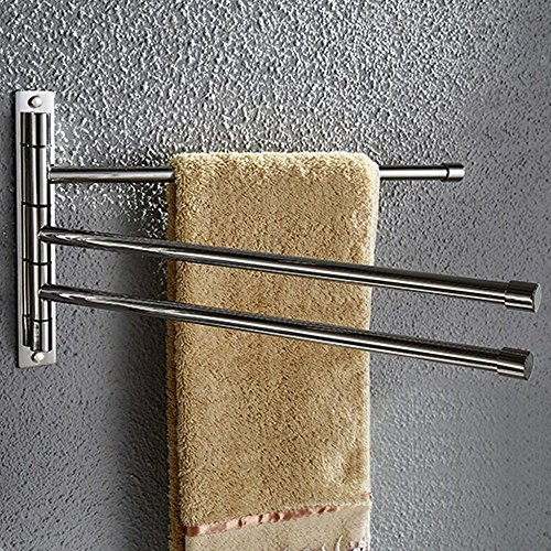 LUANT Bathroom Kitchen Towel Rack Holder with 3 Bars, Wall Mounted, Stainless Steel, Brushed Nickel