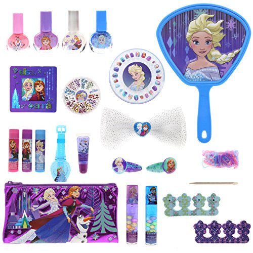 Makeup Princess Disney (Townley Girl Disney's Frozen Cosmetic Set for Girls, Nail Polish, Lip Gloss, Hair Accessories, Mirror and more)