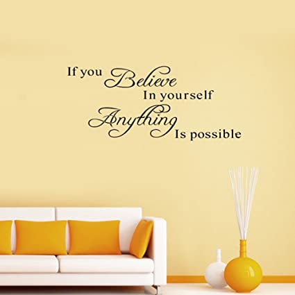 Soledi®Pegatinas Adhesivos vinilos decorativos pared frases If You ...