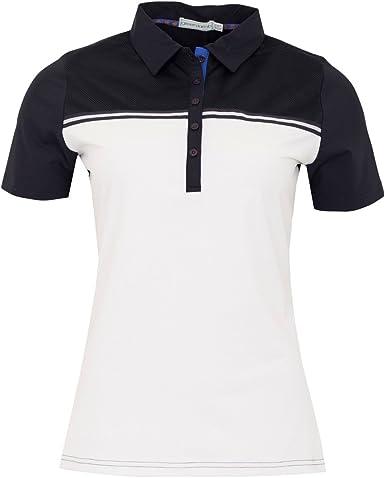 Green Lamb - Camisa Deportiva - para Mujer Multicolor Blanco/Azul Marino: Amazon.es: Ropa y accesorios