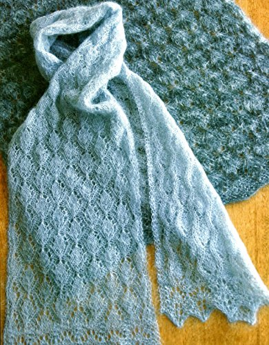 Cocoon Lace Scarf or Wrap - Fiber Trends Knitting Pattern AC73