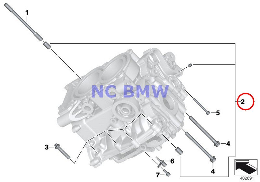 BMW Genuine Motorcycle Cylinder Head Set Of Fitting Sleeves C600 Sport C650GT