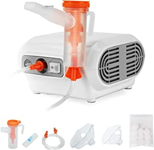 Tangxia Traditional Jet Nebulizer, Home Nebulizer Machine Personal Steam Atomizer for Kids and Elderly, Portable Compressor Nebulizer with 1 Set Accessories