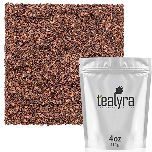 Tealyra - Honeybush Red Tea - Pure South African Red Bush - Herbal Tea Loose Leaf Tea - Relaxing Tea - High Antioxidants - Organically grown - Caffeine-Free - 112g (4-ounce)