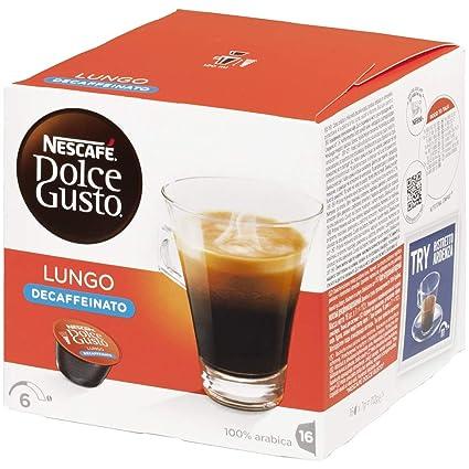 NESCAFÉ Dolce Gusto Café Lungo Descafeinado | Pack de 16 Cápsulas