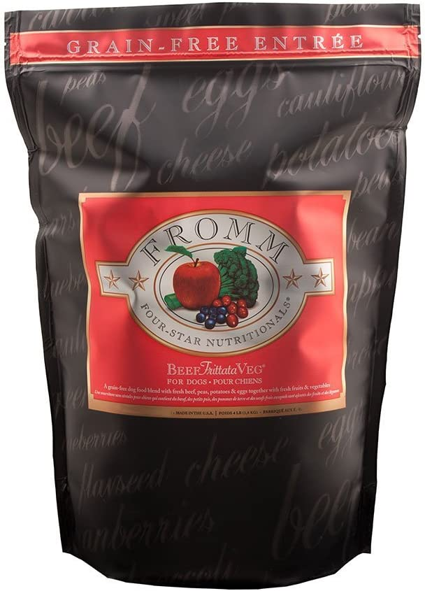 Fromm Family Foods 727650 26 Lb Four Star Grain Free Beef Frittata Veg Dry Dog Food (1 Pack), One Size