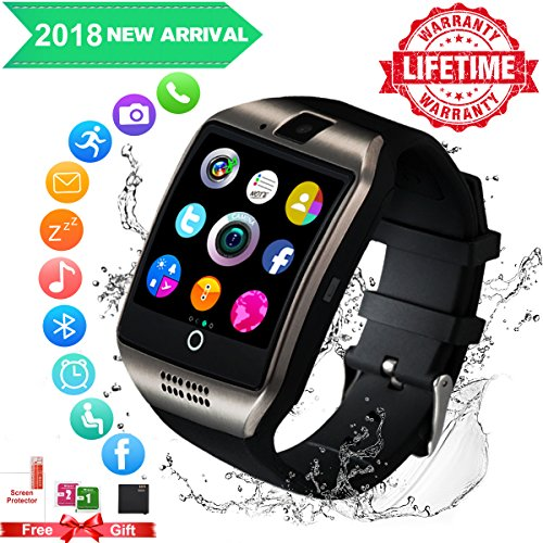 smart watch for android phones,waterproof smart watches,android smartwatch Touchscreen with Camera,bluetooth watch phone with SIM Card Slot compatible Samsung IOS iPhone X 8 7 6 6S Plus 5 Men Women by Luckymore