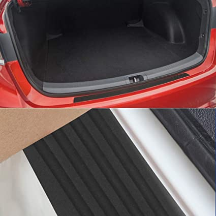 Intget Rear Bumper Guard Protector Trunk Door Entry Sill Guard Scratch-Resistance Rubber Cover Protector for Chevy Chevrolet Equinox Accessories 106cm, 41.73 inch