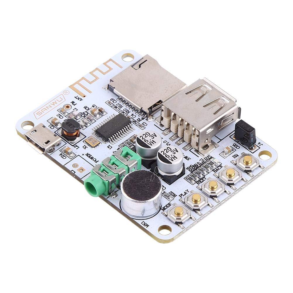 d/écodage de carte TF et radio FM r/écepteur audio Bluetooth Amplificateur MP3 WMA WAV FLAC Player Carte damplificateur sans Microphone d/écodage USB mode dentr/ée audio 4: r/écepteur Bluetooth